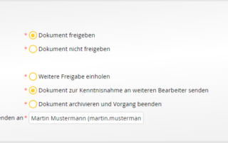 Digitaler Posteingang - Genehmigen des Archivierungsantrags