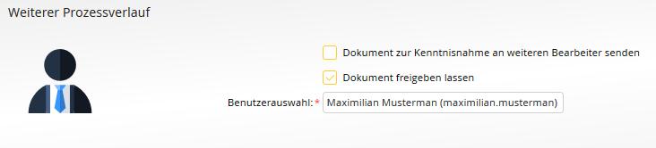 Dokumentenerstellung - Rücksprachefunktion