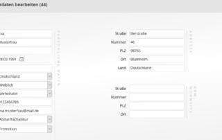 Mitarbeitermanagement - Mitarbeiterdaten editieren